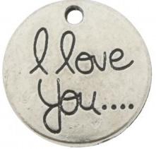 Bedel metaal munt 'I love you....'