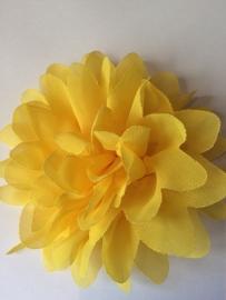 Bloemen chiffon 11 cm geel