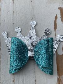 Glitter strik met kroon
