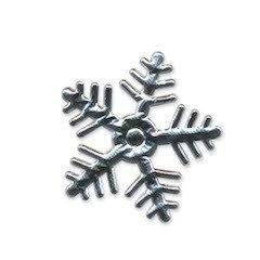 Applicatie sneeuwvlok zilverkleurig