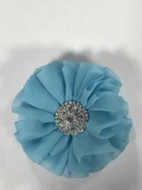 Luxe bloem met strass  blauw