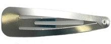 haarknipje zilverkleurig 6,5 cm