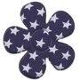 Bloem donkerblauw met witte sterren 4,5 cm