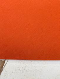 Leer structuur fijn oranje