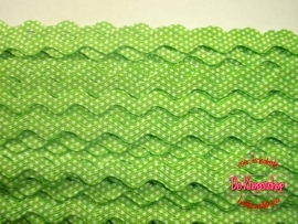 Zigzagband lime polkadot 5mm