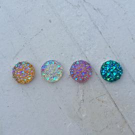 Flatback Rondje glitter 12mm B