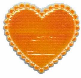 Applicatie glim hartje oranje