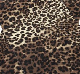 leer panter/tijger donker/licht  20x30 cm
