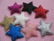 Ster glitter 4cm kies jou kleur
