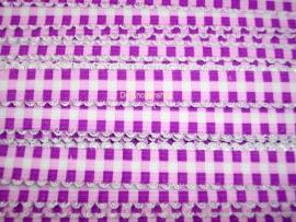 Elastiek met kantje paars