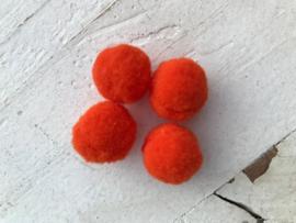Pompom neon oranje
