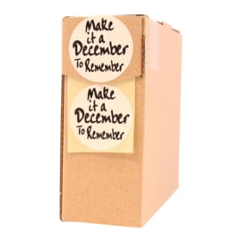 Sticker rond:  Make it a december to remember