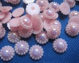 Flatback  parelmoer parel licht roze