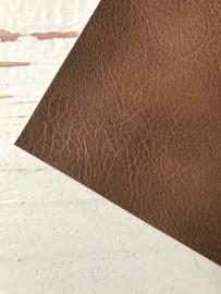 Leer kreuk motief roest bruin