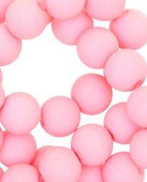 Kralen acryl mat 10 mm pink