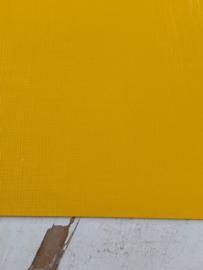 Leer structuur lijntjes oker geel