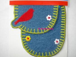Kniestukken vogeltje spijker (2st)