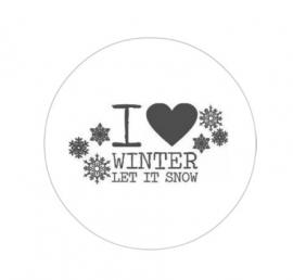 flatback & button let it snow
