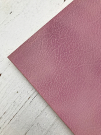 Leer kreuk motief licht roze