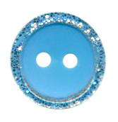 Knoop glitter rand blauw