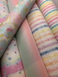 Leer pastel  regenboog streep
