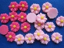Flatback  madelief fuchsia of roze