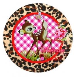 Flatback hertje luipaard & vlinder (k017)