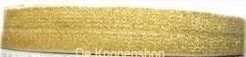 Elastisch biasband goud glitter  2cm breed