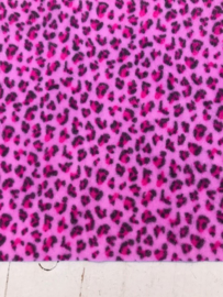 Leer/stof velvet  panter/tijger roze 20x30 cm