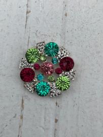 Flatback rhinestone  blauw/rood/groen/roze/zilver