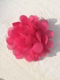 Chiffon bloem donker roze 7cm