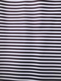 Leer streep zwart/wit