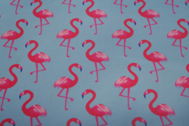 Flamingo leer blauw/hot pink