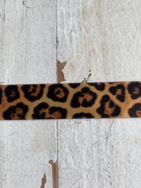 Satijnband tijger/panter 2.5cm