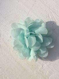 Chiffon bloem mint 7cm