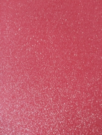 Glitter Leer neon  roze 20x22 cm