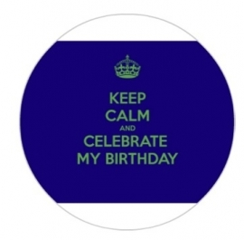 flatback & button birthday blauw