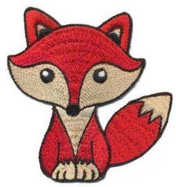 Opstrijkbare apllicatie vos rood
