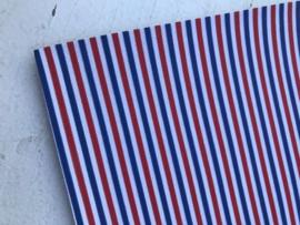 Leer streep rood-wit-blauw
