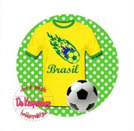 Flatback voetbal Brasil polkadot(k878)