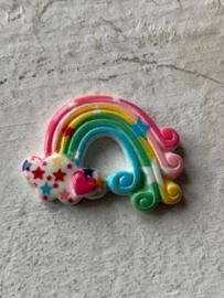 Regenboog flatback ster/hartje