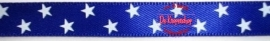 Satijnband sterren roal bleu 1cm
