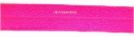 Elastisch biasband neon roze 2cm