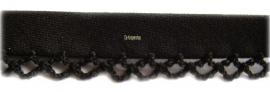 Biasband met kantje zwart