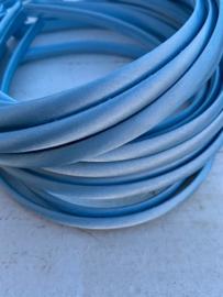 Diadeem satijn lichtblauw 1cm