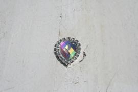 Flatback rhinestone druppel spiegelend getint