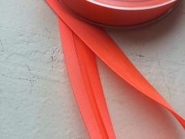 Biasband neon pink/oranje satijn