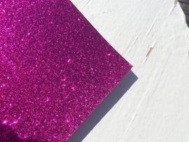Glitter Leer fel roze 20x22 cm
