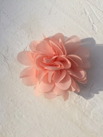 Chiffon bloem zalm 7cm