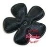 Satijnen bloem zwart 2,5 cm